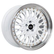 18x9.5 ARC AR1 5x100 +35 White Rims Fit Vw Jetta Golf Gti Passat Scion Tc