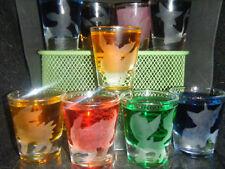 Pokemon Eevee Eeveelution etched shot glass set of 9 nintendo 3ds gameboy 64 wii