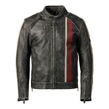 Triumph Raven 2 CE Black Leather Motorcycle Jacket New MLHC17321
