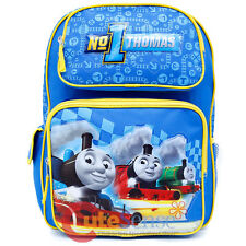 "Thomas Tank Engine Friends Large School Backpack 16"" Book Bag - No 1 Thomas"