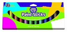 Little Brian Solid Coloured Paint Sticks, Assorted Pack of 12 Colours