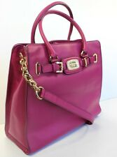 Michael Kors NEW Hamilton Jewel Large NS Tote Bag MSRP $448 Deep Pink Leather