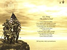 Soldier's Creed Print - Army, Military