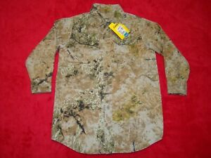 NWT Cabela's Youth Boys Size 4 Zonz Western Camo Button Up Long Sleeve Shirt