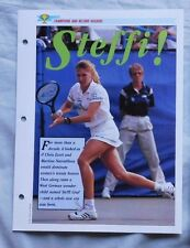 Steffi Graf Champions & Record Holders Sports Heroes Sheet