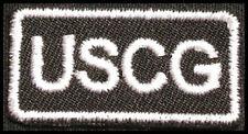 USCG Iron-on Patch/Badge for T-Shirt Hat Cap Uniform US Coast Guard 25P