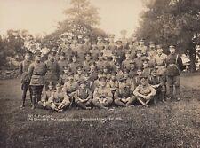 WW1 ANZAC 20.5cm x 14.5cm real photo 4th Platoon officers Broadmeadows Victoria