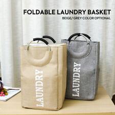 Portable Foldable Oxford Laundry Washing Dirty Clothes Storage Basket Bag Hamper