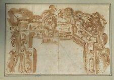 17th Century Italian School Architectural Drawing