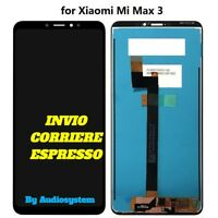 DISPLAY TOUCH SCREEN XIAOMI MI MAX 3 MIMAX3 NERO VETRO M1804E4T M1804E4A SCHERMO