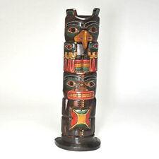 Commerce Équitable à la main en bois sculpté tiki totem 50 cm