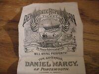 Vintage Democratic Republican NH Political Handbill 1876-1877, Marcy, Portsmouth