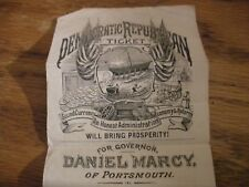 Vintage Democratic Republican NH Political Handbill 1876-1877, Marcy, Portsmouth