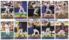 Carte sportive collezionabili topps stagione 2001