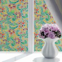 Spiral Retro Decorative Privacy Window Film Frosted Glass Film Self Adhesive