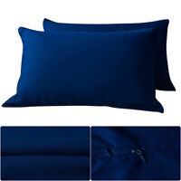 20*30'' Navy Blue Zipper Pillowcase Pillow Case Covers Standard Size Pair Pack