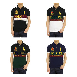 Polo Ralph Lauren Big Pony Custom Slim Fit Emblem Polos w/ Polo RL -- 3 colors