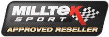 MILLTEK Focus RS MK2 Di Scarico Tubo di scolo & Sports Gatto con l'approvazione CE/TUV NUOVO