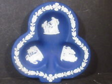 Wedgwood Jasper Blue & White CLUB TRAY Deep Blue