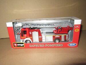 855O Burago 32100 Iveco Magirus 150 E 128 Firefighters New+ Box 1:50