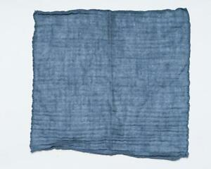 "Boglioli NWT Pocket Square Cashmere Silk Blend Blue Textured Striped 13"""
