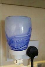 Scentsy Mini plug in warmer wax warmer scent smell Blue watercolor