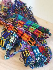 Woven Cotton Friendship Bracelets Wholesale Lot of 3 Wide Cotton Bracelets Boho