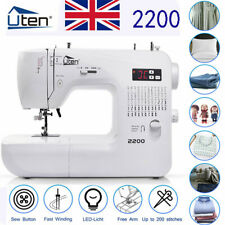More details for uten electronic automatic sewing machine 2200 led household compact computerized