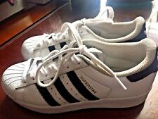 636394cf91e77 ADIDAS Size US 5 Youth Superstar Ortholite White Sneakers