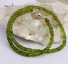 NATURAL PERIDOTO Cadena de Piedra Preciosa verde collar 1aa Calidad Hermoso