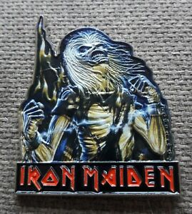 IRON MAIDEN - 3D EFFECT - EDDIE - LIVE AFTER DEATH COVER  - LARGE METAL BADGE