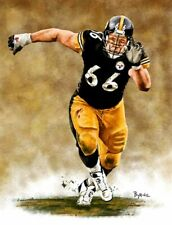 Alan Faneca Pittsburgh Steelers 8 X 10 Giclee by James Byrne Series 1