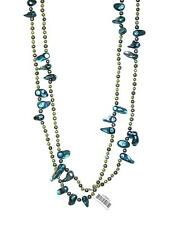 """NECKLACE N96 Classic 52"""" Baroque Multicolor FRESHWATER PEARLS"""