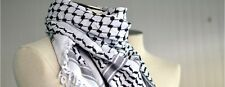 Hirbawi Kufiya Original Men's Royal Lace Arab Scarf One Size Black on White