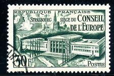 STAMP / TIMBRE FRANCE OBLITERE N° 923 REUNION DU CONSEIL DE L'EUROPE STRASBOURG
