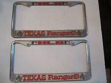 2 TEXAS RANGERS MLB LICENSE PLATE COVERS - CLASSICS - TUB E