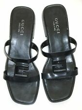 GUCCI SHOES BLACK SANDALS TOM FORD 1990's LADIES SIZE Italian 38C USA 7 1/2 C