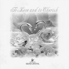 Swarovski Silver Crystal Wedding Booklet To Love and to Cherish - Pair of Swans