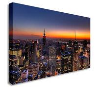 Beautiful Night New York City Skyline Wall Picture Canvas Art Cheap Print