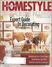 American HomeStyle & Gardening Magazine September 1998 Decorating Home Style