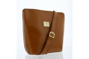 Fly London NEW Kent smooth faux leather camel brown shoulder fashion handbag bag