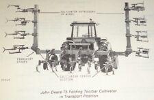 John Deere 75 Folding Toolbar Row Crop Cultivator Parts Catalog Manual Book JD