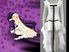 Beautiful CHOBITS CHII ANIME COSPLAY LOLITA WOMENS COSTUME Black and White Dress