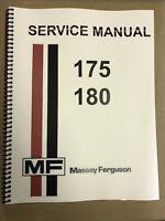180 Massey Ferguson Tractor Technical Service Shop Repair Manual MF180