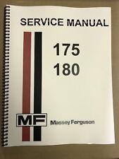 175 Massey Ferguson Tractor Technical Service Shop Repair Manual MF175