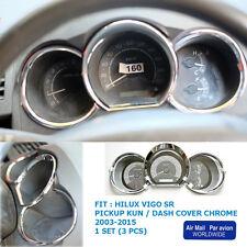 Toyota Hilux Vigo Sr5 Mk6 2005 - 2011 12 13 15 Chrome Dash Gauge Cover Trim