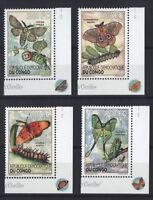 Kongo 2012 - Schmetterlinge Raupen Nachtfalter Nr. 2174-77 🦋 Papillons Moths