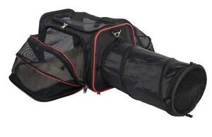 The Expandable Pet Carrier  with Tunnel By Pet Peppy Airline Approved