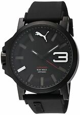 Puma Ultrasize 50 Bold Men's Water Resistant Watch - Black/White / One Size F...