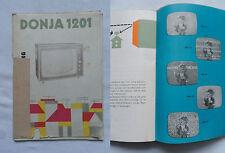 DONJA 1201Bedienungsanleitung TV Fernseher RFT Stassfurt  DDR 1967 D1